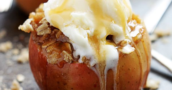 Apple Crisp Stuffed Apples - this is what fall is all about!