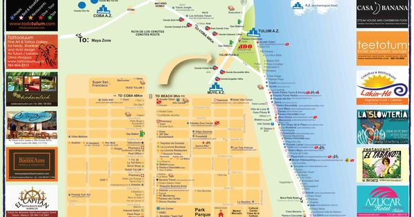 Tulum map | Yucatan | Pinterest | Blog, Maps and Tulum