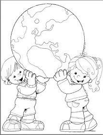Trabajar El Dia De La Tierra Farglaggningssidor Teckningar
