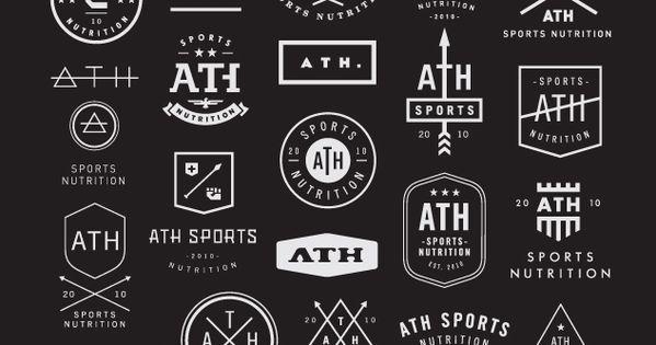 ATH logo design concepts graphic design