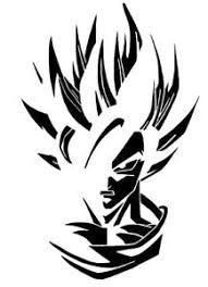 Resultado De Imagem Para Stencil Dragon Ball Dessin Goku