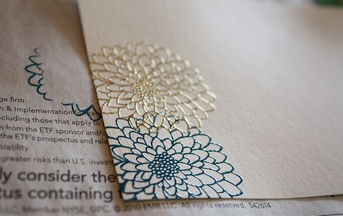 Heat embossed cards