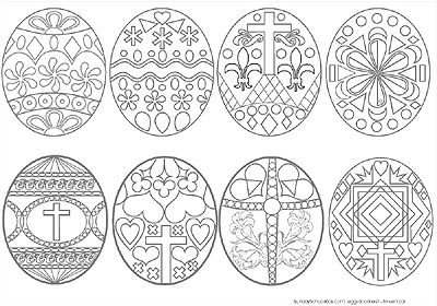 Russian Easter Eggs Coloring Pages Designs Collections