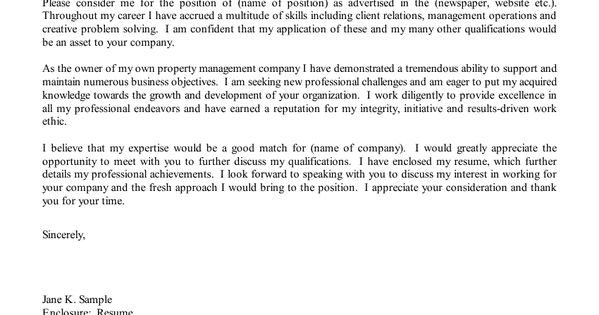 property manager cover letter sample beautiful view o