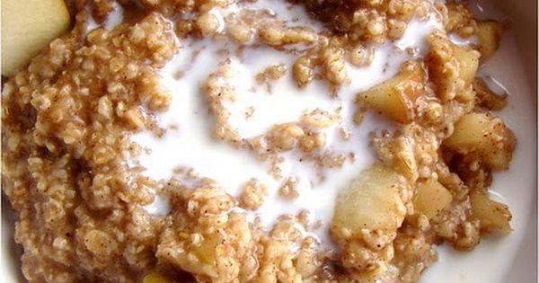 CrockPot Make-Ahead Apple Pie Oatmeal   Apple Pie Oatmeal, Apple Pies ...
