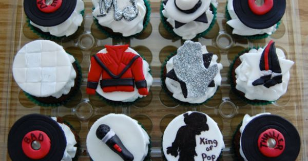 Michael Jackson Themed Edible Cup Cake Toppers by ...