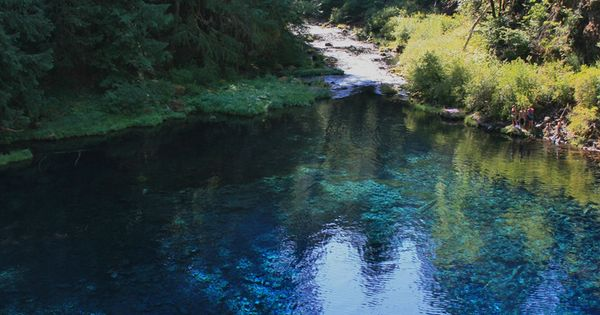 Tamolitch Pool The Place Where The Mckenzie River Naturally Reappears From Its Underground