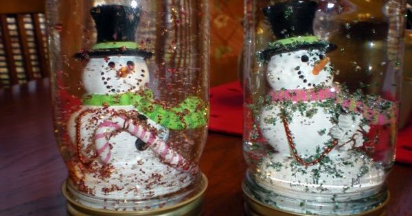 homemade christmas gifts. Snowman snow globes. prezzybox Christmas gifts