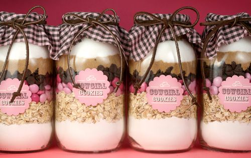 Mason Jar Crafts — Cowgirl Cookies Recipe – DIY Mason Jar Cookie