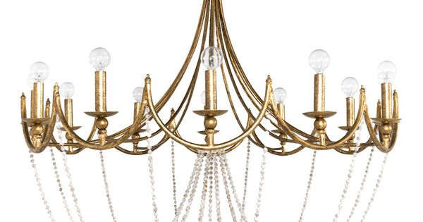 Wood Beaded Light Fixture: Antique Gold, Antiques And