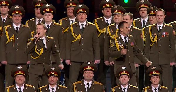 Red army choir mvd ensemble performs get lucky at sochi opening