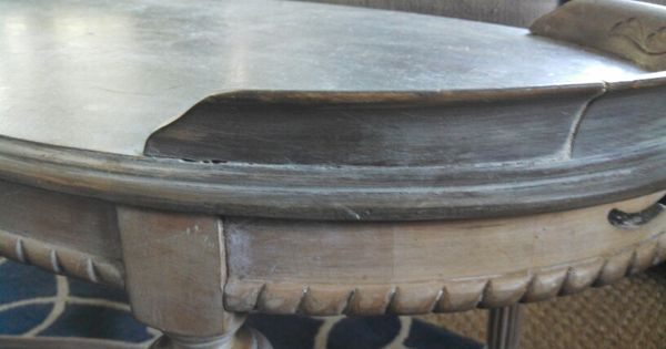 Zinc And Driftwood Finish Using Ascp Graphite Liming Wax Snd Drftwood Furniture Finish