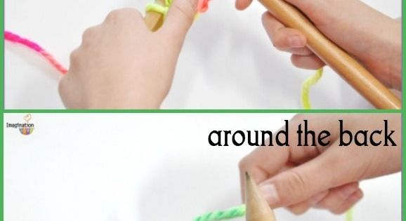 Teaching Knitting Rhyme : Teaching kid to knit diy crochet craft crafts