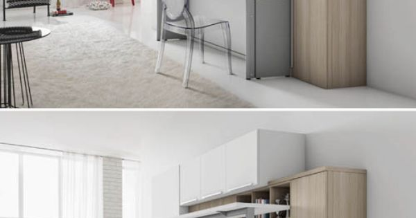 un bureau plut t design pour un lit escamotable petit espace pinterest design bureaux et. Black Bedroom Furniture Sets. Home Design Ideas