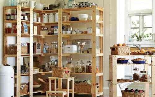 Estanterias de madera para cocina buscar con google - Estanterias para despensas ...