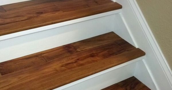 Best Finished Replaced Old Carpeted Stairs With New Risers And 400 x 300