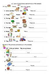 English worksheet: POSSESSIVE ADJECTIVES | English grammar ...