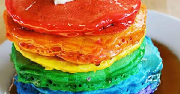 rainbow pancakes | Eetbare regenbogen | Pinterest | Rainbow Pancakes ...