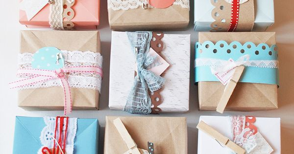 Beautiful diy gift wrap ideas made from found objects and recycled craft