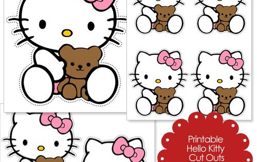 hello kitty cut out template - free cut outs of hello kitty and teddy bear from
