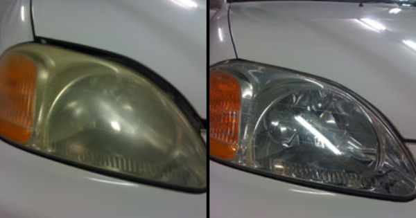 Diy Do It Yourself Headlight Cleaning Restoring I Found