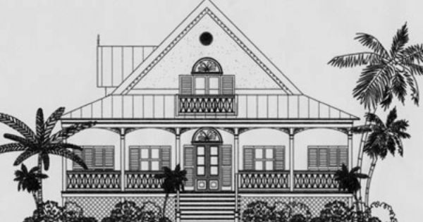 Antigua Caribbean Cottage Plan Caribbean Homes Caribbean Style Cottage Plan