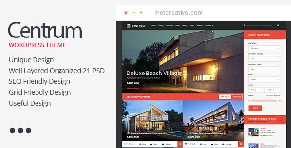 Download Free Centrum Unique And Useful Real Estate Theme Agent Creative Estat Centrum Psd Templates Website Template