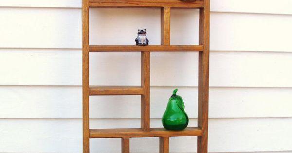 Vintage Wooden Knick Knack Shelf Wall Mounted Display