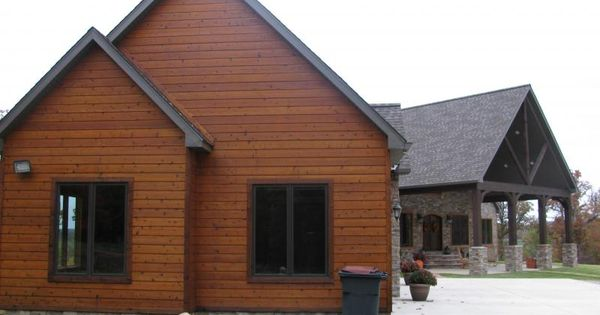 Faux cedar siding faux log cabin siding pinteres for Buy log siding