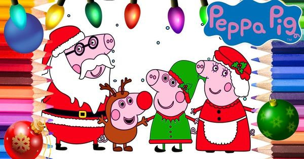 Peppa Pig Christmas Coloring Pages Peppa Pig Coloring Book