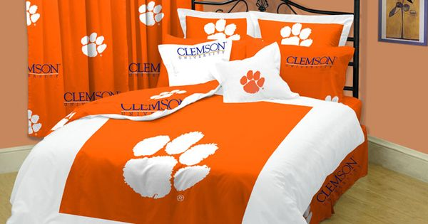 Clemson Tigers Twin XL-size 10-piece Dorm Bed In A Bag