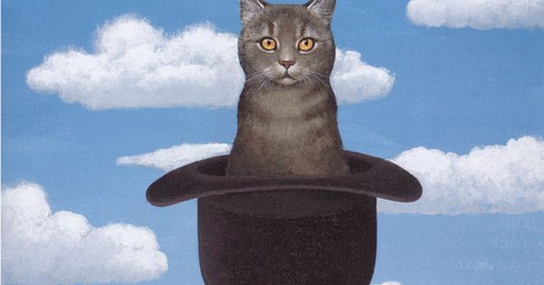 René Magritte, Cat in a Hat, 1920s Note: Apparently not a ...
