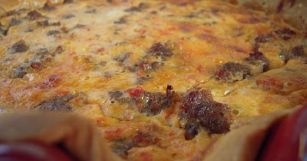 Southwestern Sausage Quiche Sausage Cheddar Cheese 1 Can Rotel Tomatoes Eggs Ranch Sour Cream Milk Pie Shell Sausage Quiche Yummy Breakfast Recipes