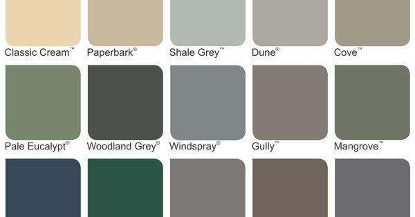 Colorbond Colours Google Search Fences Pinterest
