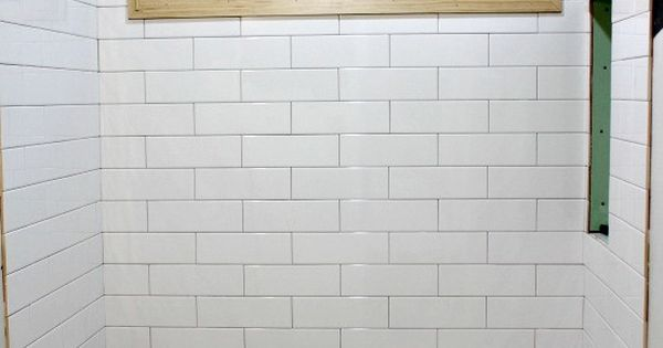 4x12 Subway Tile Instead Of 3x6 Standard Size Less Grout