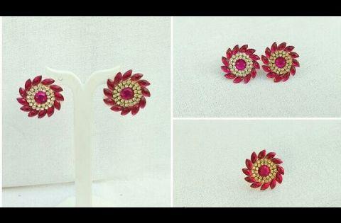How To Make Silk Thread Designer Earrings//Paper Designer Earrings Making  At Home .