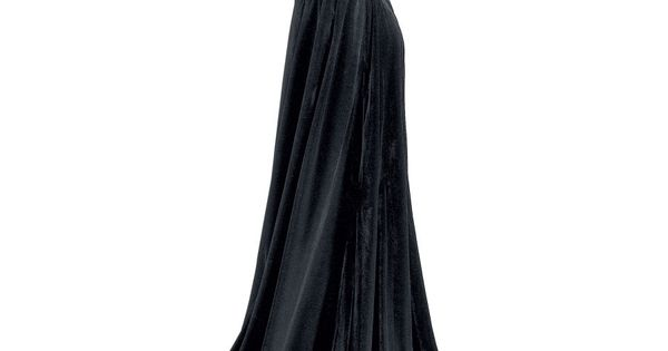 Full Length Velvet Cape Witches take notice! Falling in lush, sable folds