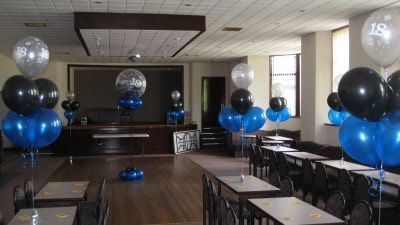 Adult Party Balloon Decorations Blue Party Decorations Silver