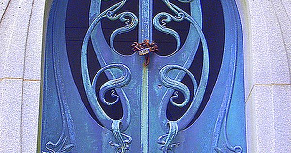 Blue art nouveau door The door is something else but then the
