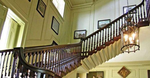 The flying staircase at Shirley Plantation, Charles City ...