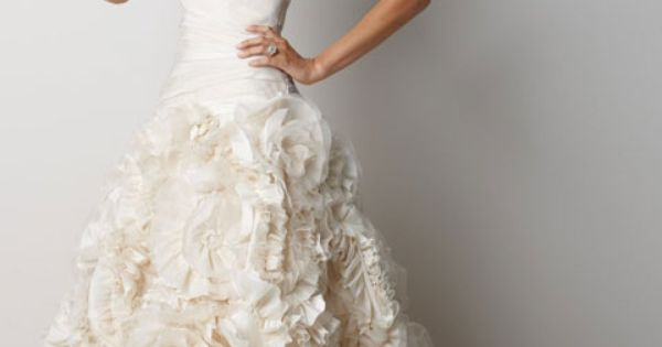 Dream dress! Sweetheart dropped waist A-line taffeta wedding dress