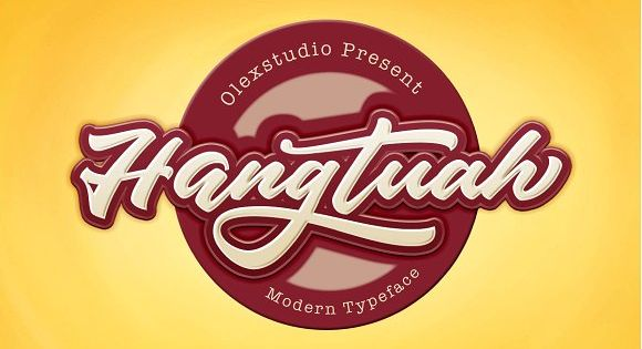 Hangtuah is a beautiful Script Font, It suitable for Signature, greeting cards, T-Shirt, Logo, Branding
