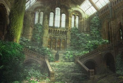 Abandoned church - Breathtaking photomontage of Natural History Museum in London ...