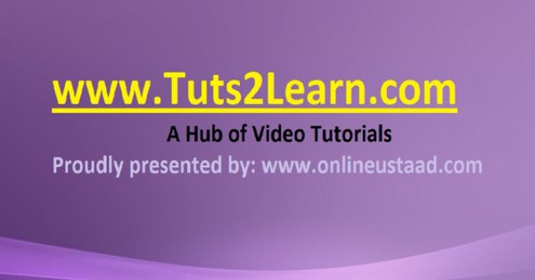 Tuts2learn Com A Website For Learning Video Tutorials Videos Tutorial Web Programming Languages Tutorial