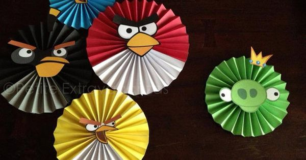 Angry Birds Party Decor Set of 5 Angry Birds - Large Paper