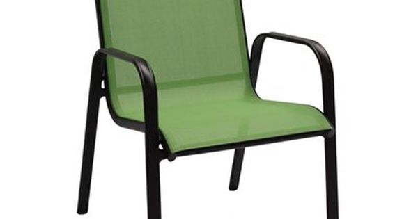 Sienna Sling Stacking Chair Lime Green Model Bdf02400k03 Sling Chair Metal Dining Chairs Patio Chairs