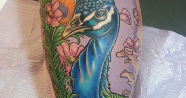 Peacock tattoo by jeremiah klein at iron lotus tattoo for Iron lotus tattoo