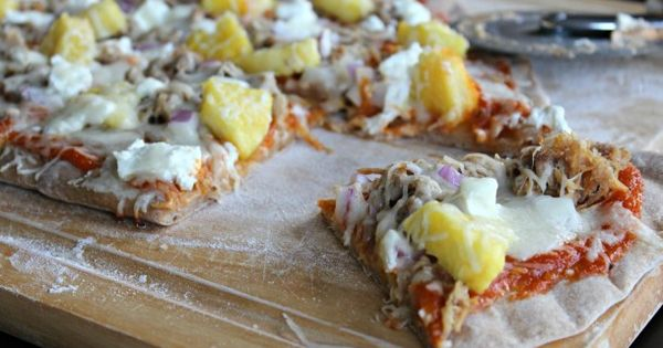 Hawaiian Pizza On The Grill With Mango BBQ Sauce  Recipe