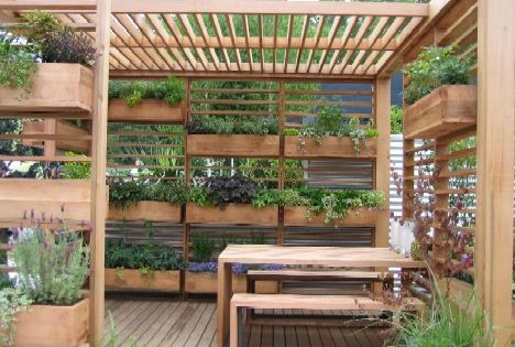Wow! This is GREAT! Vertical gardening in a small space.