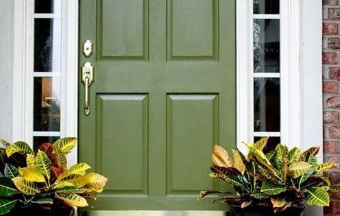 Olive Green Front Door Beautiful Front Doors Pinterest Green Front Doors Front Doors